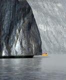 Piede del ghiacciaio di Tasman Fotografia Stock