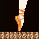 Piede di balletto Fotografie Stock Libere da Diritti