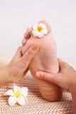 Piede di massaggio Immagine Stock