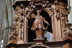 Piedestał chórowa katedra Salamanca obrazy stock