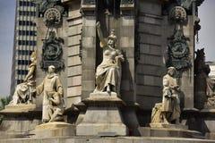 Piedestał Christopher Kolumb zabytek w Barcelona, Hiszpania Zdjęcia Stock