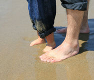 Piedi alla spiaggia Fotografia Stock
