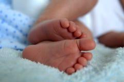 Piedi appena nati del bambino Fotografie Stock Libere da Diritti