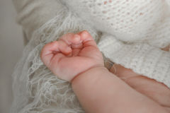 Piedi appena nati del bambino Fotografia Stock Libera da Diritti