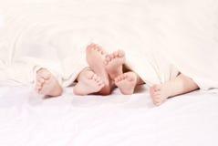 Piedi dei bambini Fotografia Stock