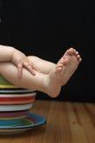 Piedi del bambino Fotografia Stock