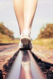 Piedi della ferrovia della ferrovia Fotografia Stock