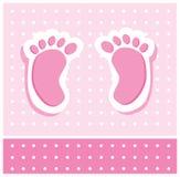 Piedi della neonata Immagini Stock Libere da Diritti