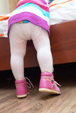 Piedi della neonata Fotografie Stock