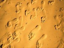 Piedi della sabbia fotografia stock