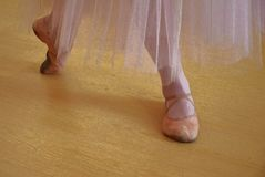 Piedi di ballerina nell'illustrazione dei pointes fotografie stock