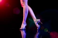 Piedi di dancing. Immagine Stock