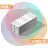 Piedi di ombra isometrica del container Fotografie Stock