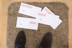 Piedi di Person And Important Letters Immagine Stock Libera da Diritti