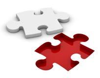 Piedi di puzzle di bianco Fotografia Stock