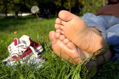 Piedi di riposo Fotografia Stock