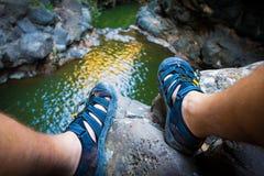 Piedi di sandali Fotografia Stock Libera da Diritti