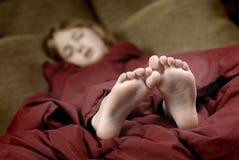 Piedi di sonno Immagine Stock