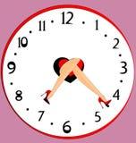 Piedi ed orologio Immagine Stock