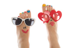 Piedi felici di estate fotografie stock