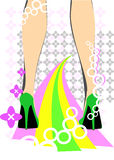 Piedi femminili di discoteca immagine stock libera da diritti