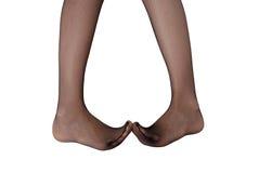 Piedi femminili timidi Fotografie Stock Libere da Diritti
