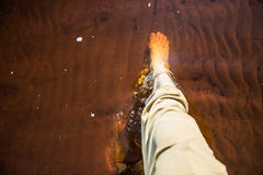 Piedi maschii in acqua Immagine Stock Libera da Diritti