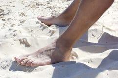 Piedi nella sabbia Immagine Stock Libera da Diritti