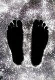 Piedi in polvere Fotografia Stock Libera da Diritti