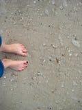 Piedi in sabbia Fotografia Stock Libera da Diritti