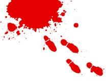 Piedi sanguinanti Fotografia Stock