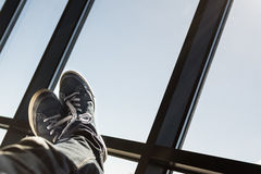 Piedi su nell'aria Fotografie Stock
