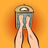 Piedi sulle scale dieta e peso illustrazione di stock