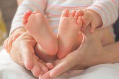 Piedi svegli del bambino Fotografie Stock Libere da Diritti