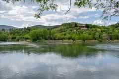 Piediluco jezioro - Umbria region, prowincja Rieti, Środkowy Włochy obrazy royalty free