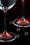 Piedini del bicchiere di vino Immagini Stock Libere da Diritti