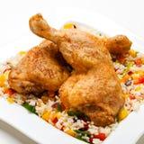 Piedini di pollo arrostiti Fotografia Stock