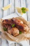 Piedini di pollo arrostiti immagini stock