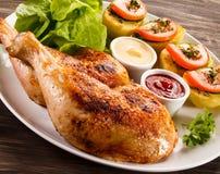 Piedini di pollo arrostiti Fotografie Stock