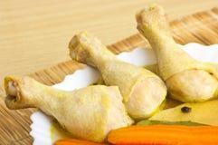 Piedini di pollo bolliti Fotografia Stock