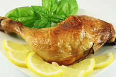 Piedini di pollo dell'arrosto Fotografie Stock