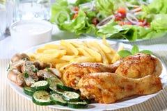 Piedini di pollo dell'arrosto Immagine Stock Libera da Diritti