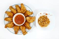 Piedini di pollo di Ied con aglio fritto Fotografia Stock Libera da Diritti