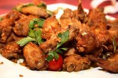 Piedini di pollo fritto Fotografie Stock Libere da Diritti