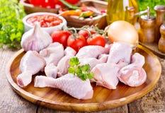 Piedini di pollo grezzi Fotografie Stock