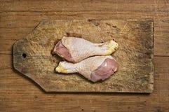 Piedini di pollo grezzi Fotografie Stock Libere da Diritti