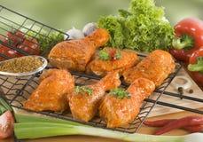 Piedini di pollo marinati Immagini Stock Libere da Diritti
