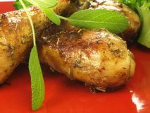 Piedini di pollo, primo piano Fotografia Stock Libera da Diritti