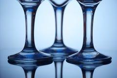 Piedini di vetro di vino Fotografia Stock