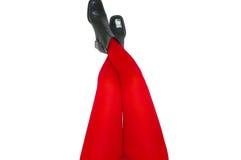 Piedini nel colore rosso Fotografia Stock